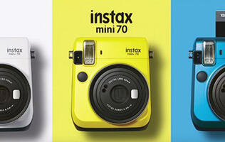 Take a selfie polaroid with the new Instax mini 70