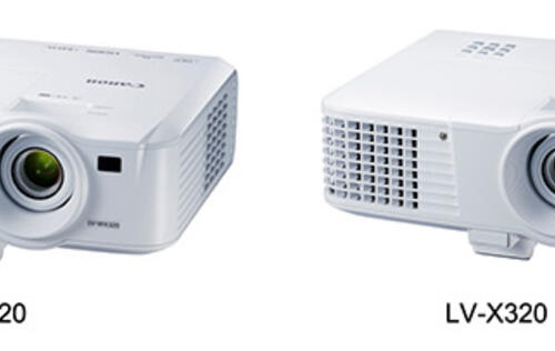 Canon launches new LV-WX320 and LV-X320 compact portable projectors