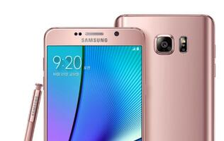 Samsung introduces pink gold Galaxy Note 5 (64GB) for the Korean market