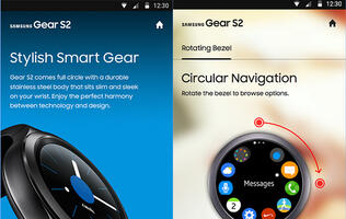 "You can ""try on"" the Samsung Gear S2 before buying it with this app"
