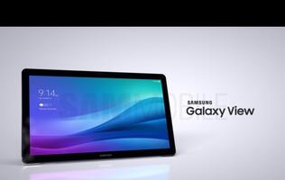 Samsung's 18.4-inch Galaxy View tablet has a handle for you to carry it around