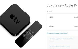 The new Apple TV is now available for purchase, ships in 3 to 5 business days