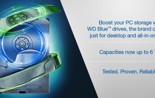 Western Digital rebrands its Green series HDDs to Blue