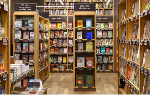 Amazon goes physical, opens book store