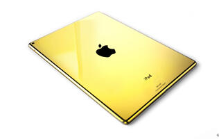 Spruce up your iPad Pro with a custom 24K gold mod