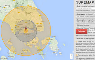 How many nukes would it take to wipe Singapore off the map?