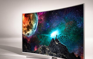 A feature on Samsung UA65JS9000KXXS SUHD 4K Curved TV