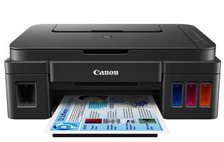 The Pixma Ink Efficient G1000, G2000 and G3000 are Canon's first ink tank system printers