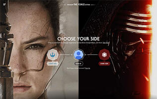 Become a Jedi or Sith with the power of Google