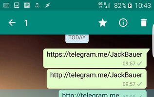 WhatsApp is blocking links to rival messaging app Telegram