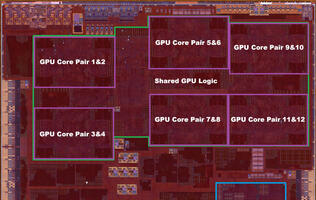 Teardown of Apple's A9X processor shows 12 GPU cores