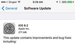 Apple releases iOS 9.2 update, says will fix unresponsive iPad Pro issues