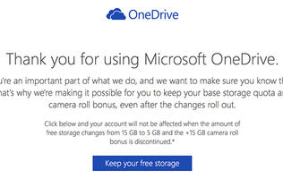 Here's how to keep your 15GB OneDrive storage before it drops to 5GB in 2016