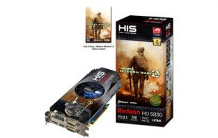 HIS Unveils HIS Radeon HD 5830 V iCooler 1GB GDDR5