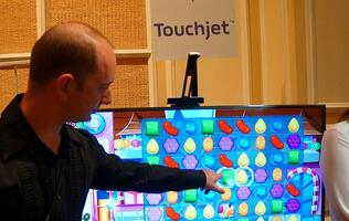 The Touchjet Wave converts any TV to a giant touch-enabled Android tablet!