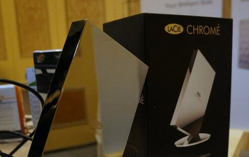 Fast, stylish and expensive, the LaCie Chrome external drive will appeal to connoisseurs