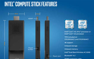 Intel Compute Stick gets an upgrade to more powerful Skylake Intel Core m processors