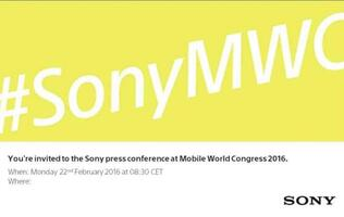 What will Sony announce on 22nd February at MWC 2016?