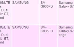 Dual-sim Samsung Galaxy S7 and S7 edge listed on IDA's website
