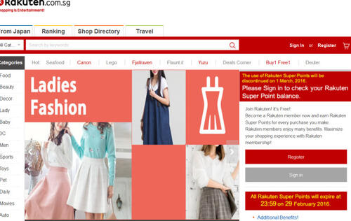 Rakuten shuts down online shopping operations in Singapore