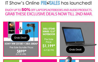 You can grab some exclusive deals now on the IT Show online pre-sales website