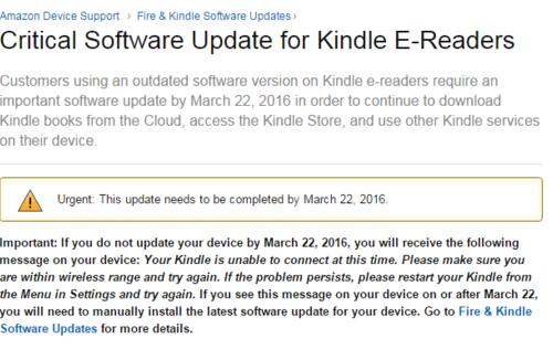 Amazon pushes emergency update for Kindle e-readers