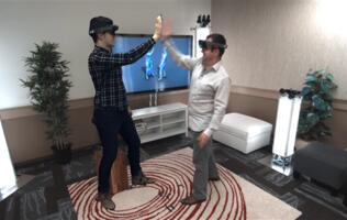 "Microsoft's Holoportation tech lets you ""virtually teleport from one space to another in real time"""