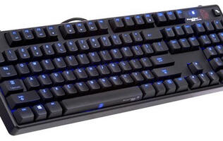 The Thermaltake Poseidon Z Touch has a touch-sensitive spacebar for macros and gestures