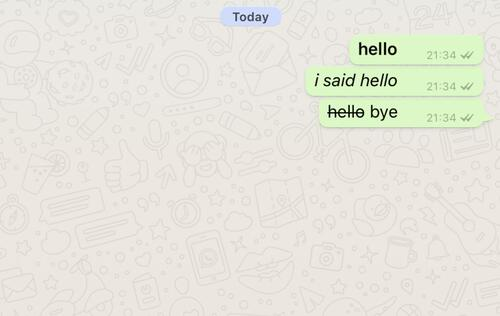 WhatsApp text messages now support italics, bold, and strikethrough formatting