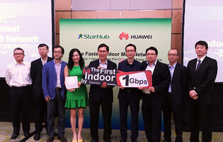 Huawei and StarHub showcase 1Gbps indoor 4G LTE speeds
