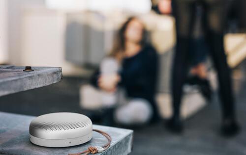 The new B&O Beoplay A1 speaker is small, stylish and powerful