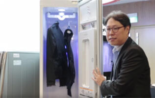 This high-tech LG closet will steam, deodorize, dry and sanitize your clothes!
