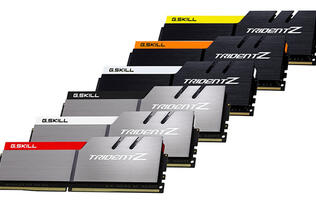 G.Skill's new DDR4 Trident Z kits feature lower latencies and more colors than before