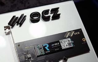 Here's OCZ's new RD400 PCIe 3.0 x4 NVMe SSD in the flesh