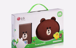 LG releases special edition inkless smartphone printer with LINE characters