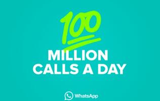 WhatsApp users make more than 100 million calls every day