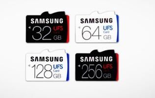 Samsung announces world's first removable UFS memory cards; 5x faster than microSD