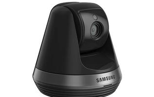 The Samsung SmartCam SNH-V6410PN pan-and-tilt IP camera streams at full HD and supports auto tracking