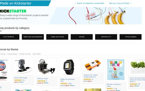 Amazon's new product hub is just for Kickstarter projects