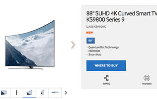 The Samsung KS9800 is expensive because it's an 88-inch 4K TV with direct LED backlighting