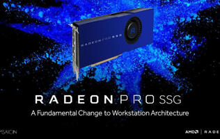 The AMD Radeon Pro SSG graphics card pairs a Polaris GPU with 1TB solid state memory!