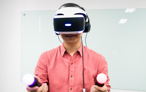 I just tried the PlayStation VR and it made me deliriously happy