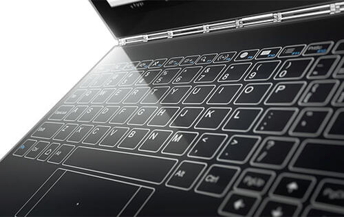 The Lenovo Yoga Book has a touch-based keyboard that learns your typing style