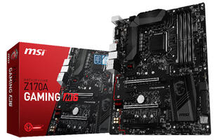 The MSI Z170A Gaming M6 motherboard will be right at home in your stealth-themed build