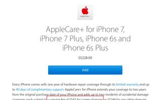 AppleCare+ for the iPhone now includes S$42 repair fee for screen damage