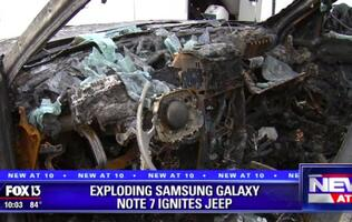 Exploding Galaxy Note7 reportedly set family's jeep on fire