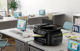 The Epson L1455 ink tank printer is able to print documents up to A3+ size