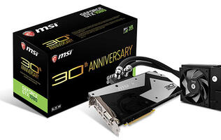MSI made a limited edition liquid-cooled GeForce GTX 1080 to celebrate its 30th anniversary