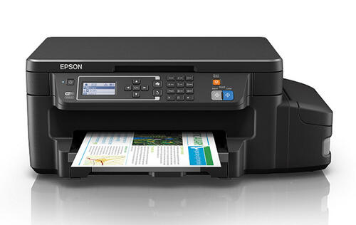 The Epson L605 is an affordable 3-in-1 ink tank printer for businesses that print a lot