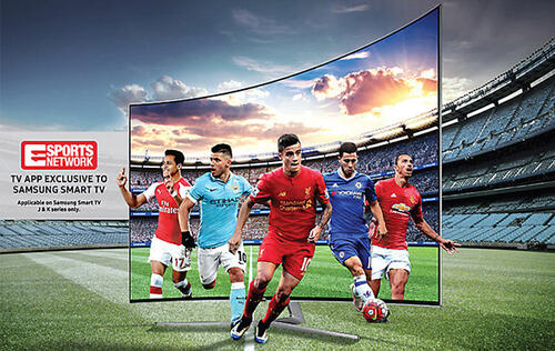 Eleven Sports Network's platform is now available on Samsung smart